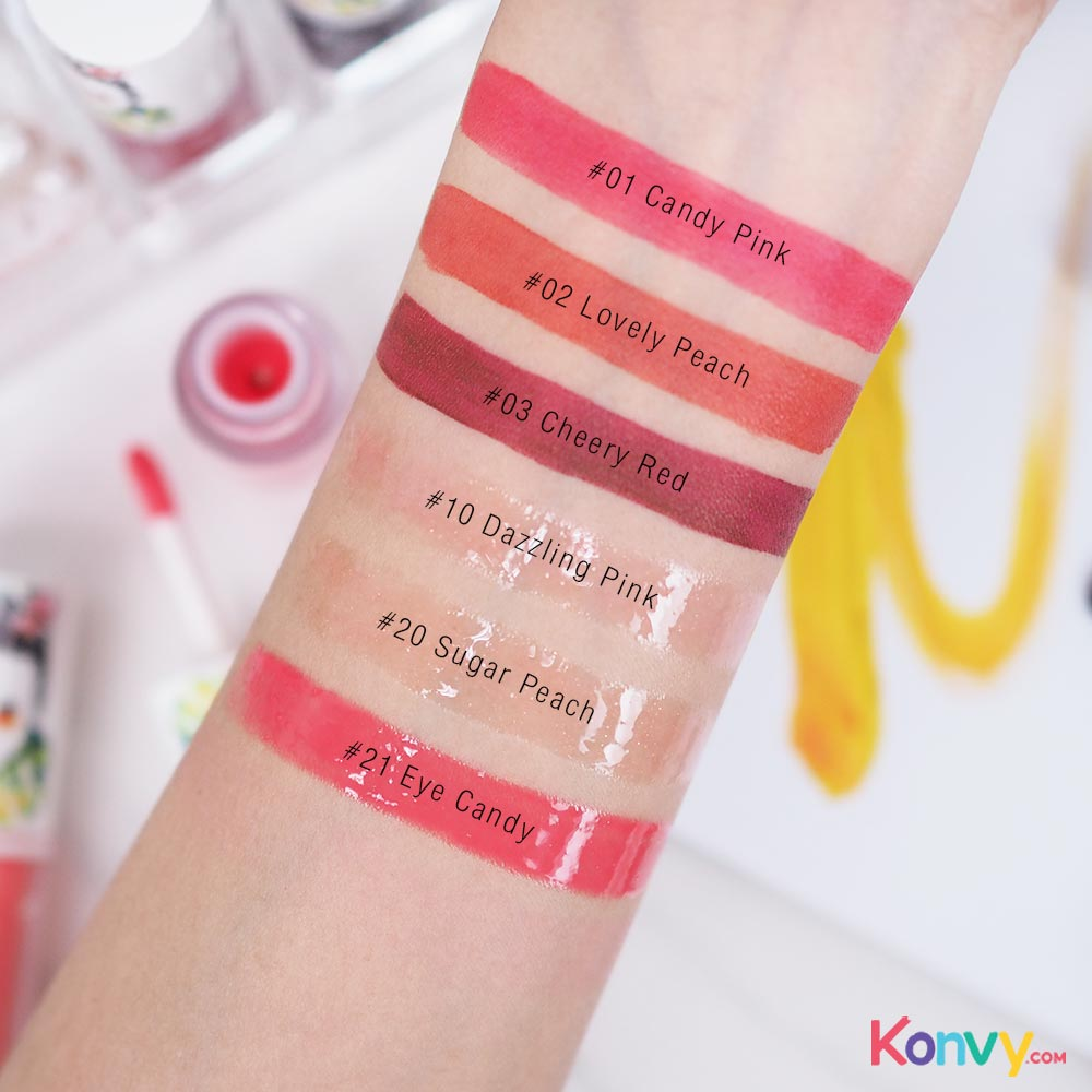 SASI by Srichand Jolly Sweet Lip Tint #01 Candy Pink_3