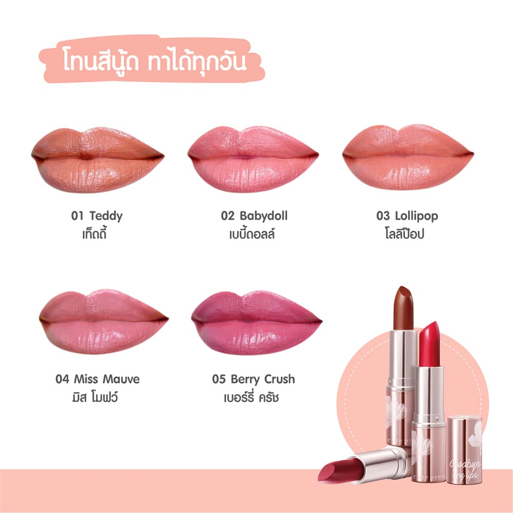 Cute Press Goodbye Day Lips Moisturizing Lip Cream 3.7g #01 Teddy_2