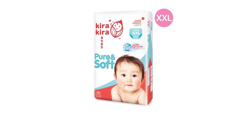 Kira Kira Pure & Soft Baby Pant Diaper 32pcs #XXL