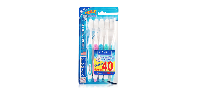 Sparkle Turbo White Toothbrush Pack