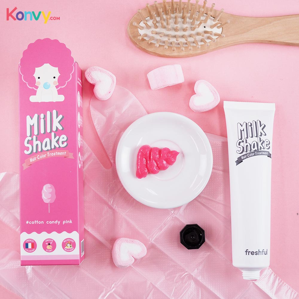 Freshful Milk Shake Hair Color Treatment 60ml #Cotton Candy Pink_2