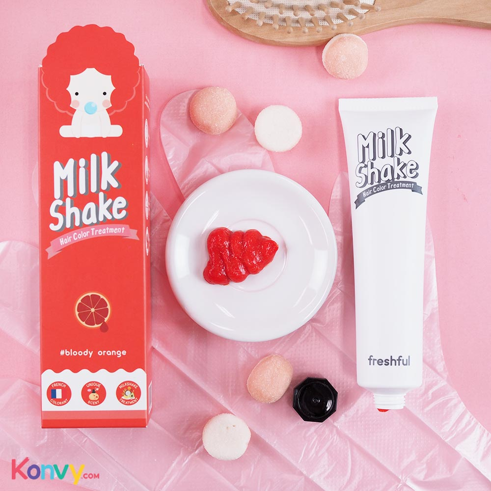 Freshful Milk Shake Hair Color Treatment 60ml #Bloody Orange_2