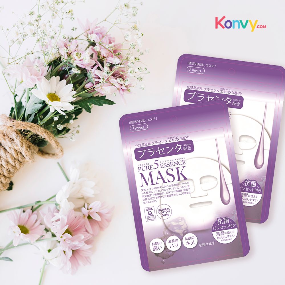 Pure 5 essence Placenta Mask 7sheets