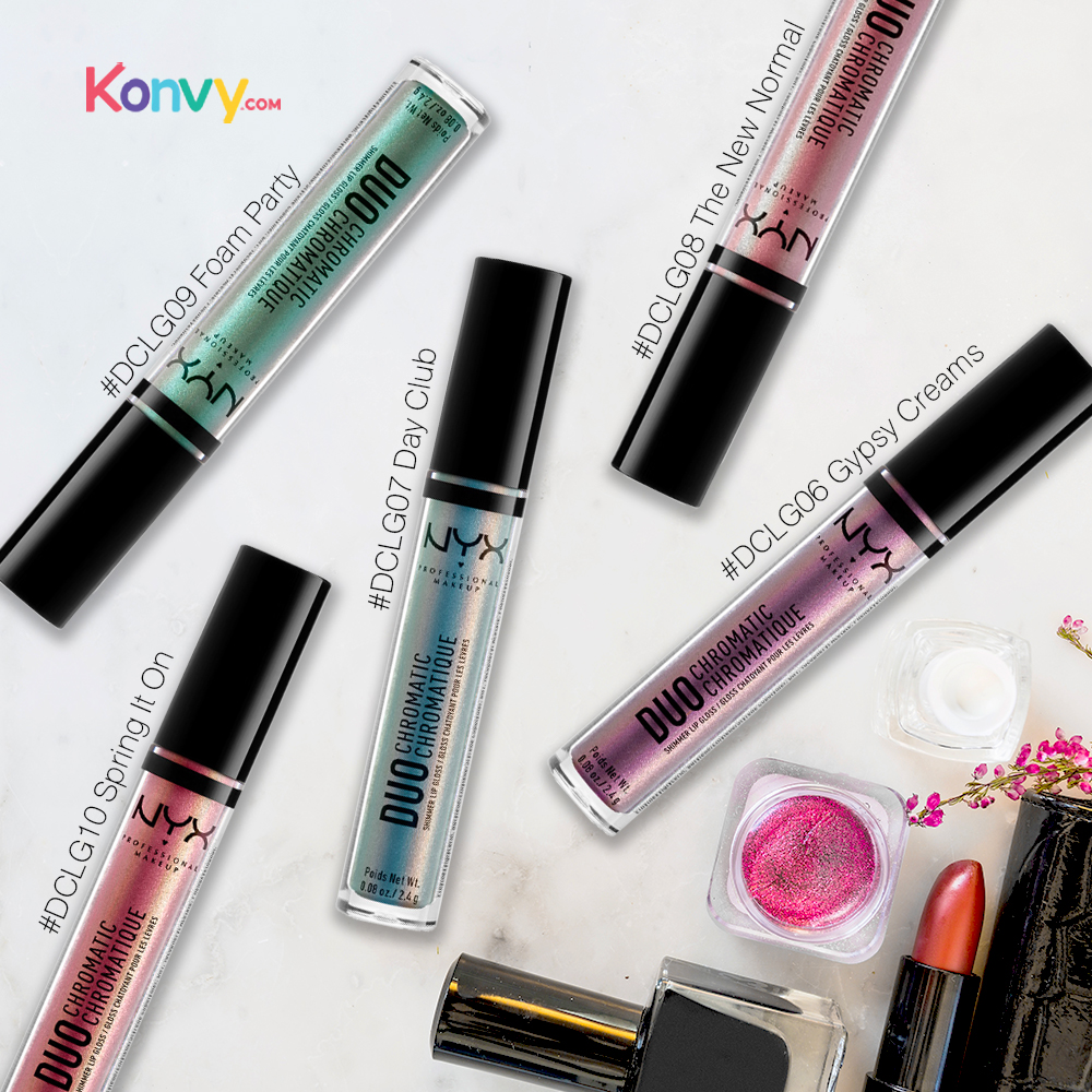 NYX Professional Makeup Duo Chromatic Lip Gloss #DCLG09 Foam Party_1