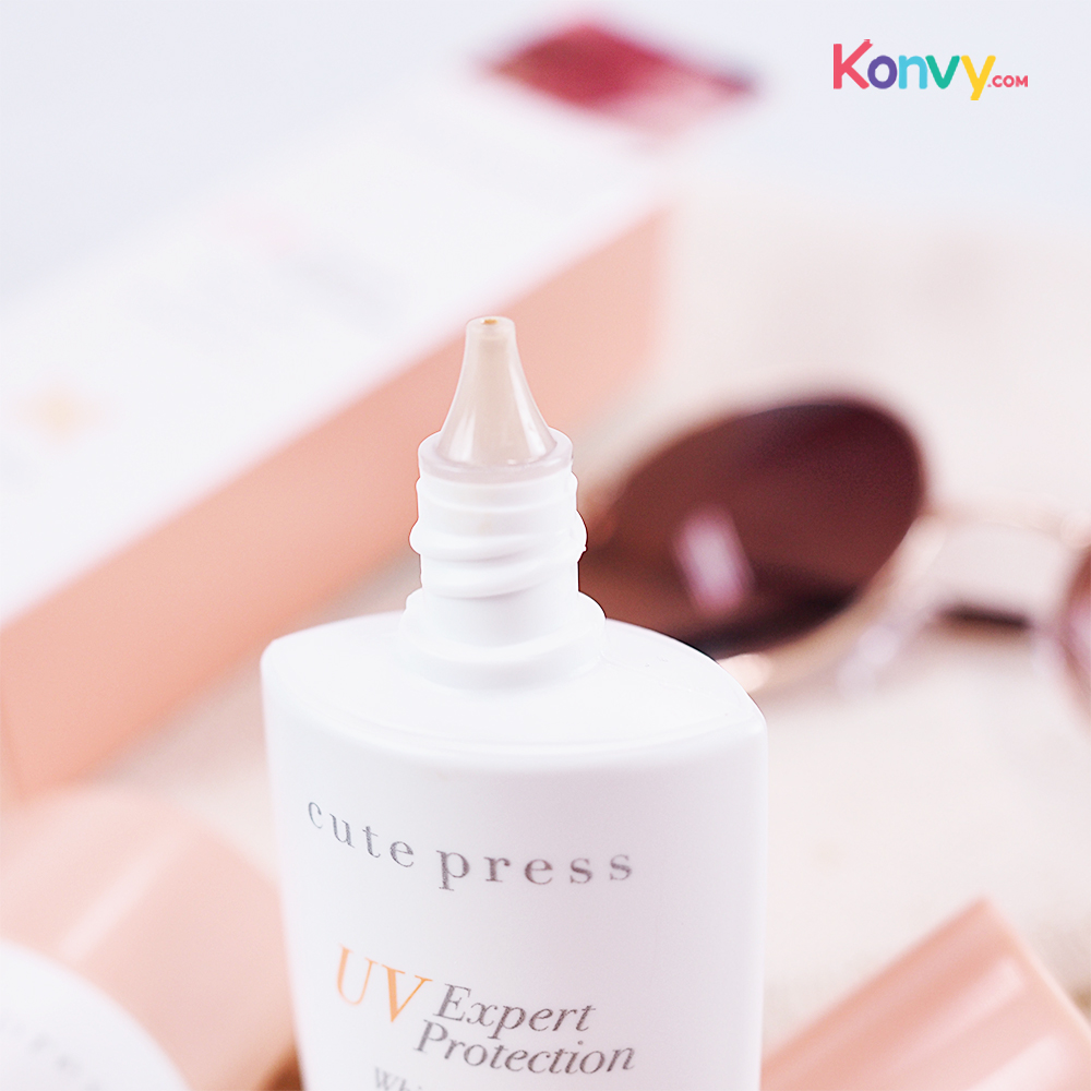 Cute Press UV Expert Protection White & Matte Sunscreen SPF50+/PA++ 30ml #Ivory_2