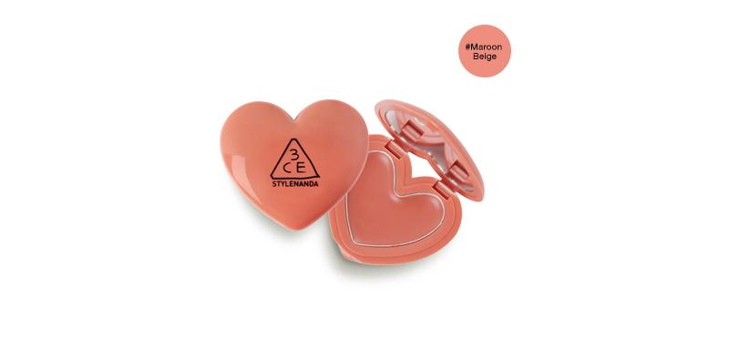 3CE Heart Pot Lip #Maroon Beige
