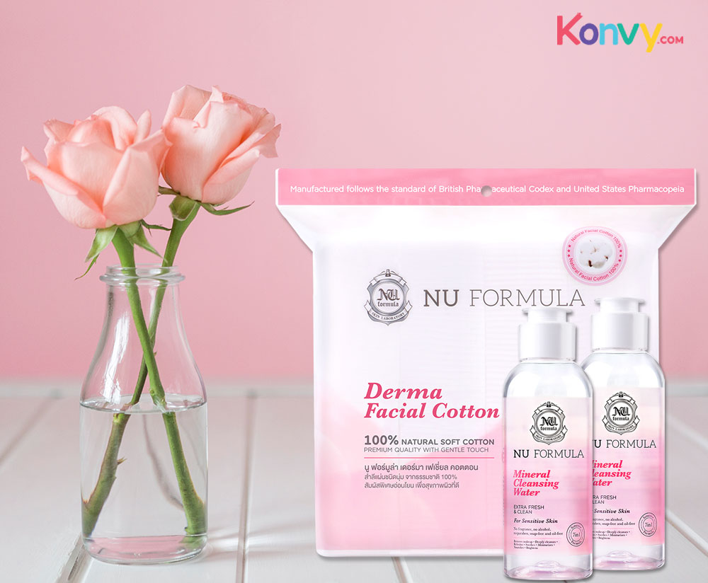 Nu Formula Cleansing Set 2 Items for Sensitive Skin (Cleansing Water 510ml + Derma Cotton 200pcs)_8