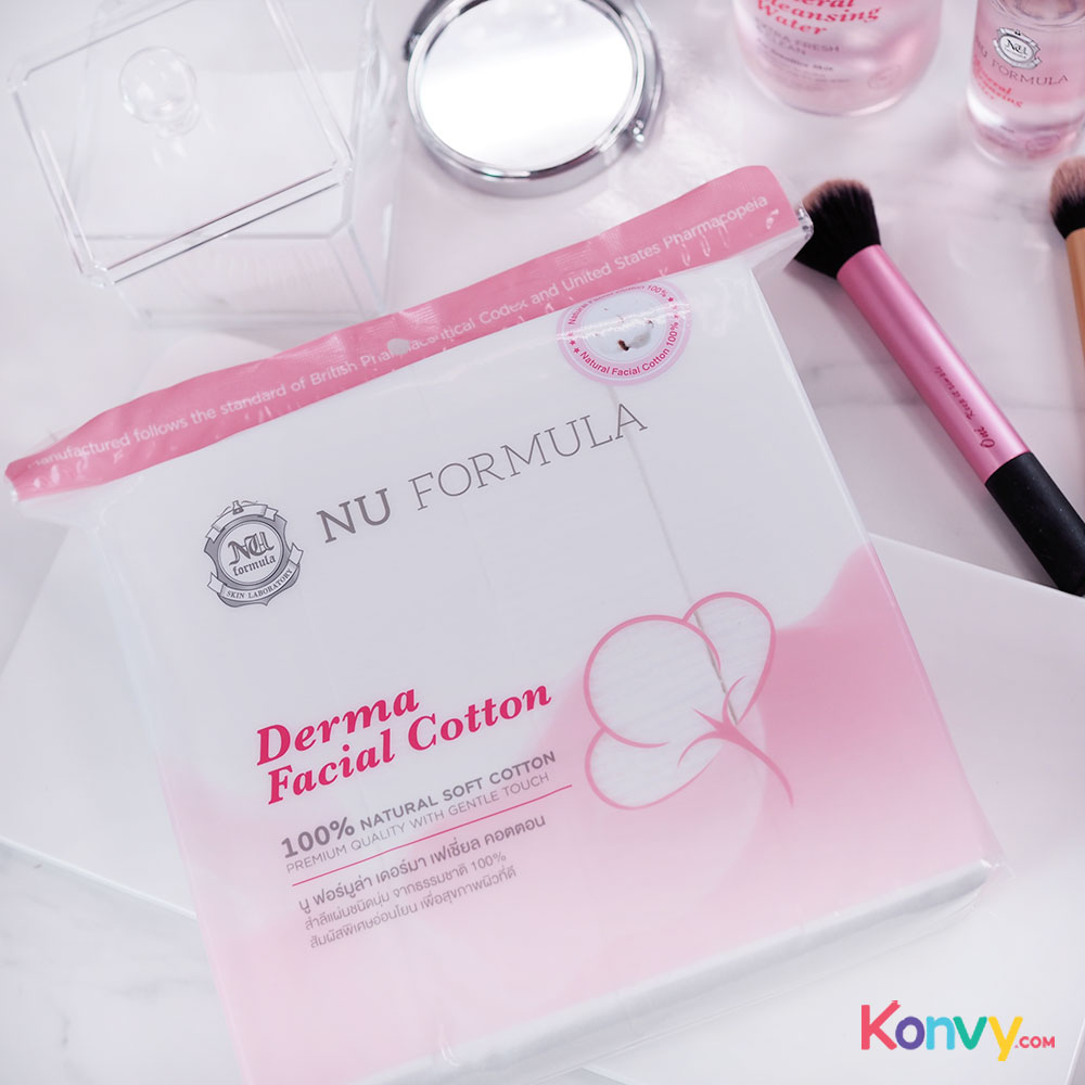 Nu Formula Cleansing Set 2 Items for Sensitive Skin (Cleansing Water 510ml + Derma Cotton 200pcs)_11