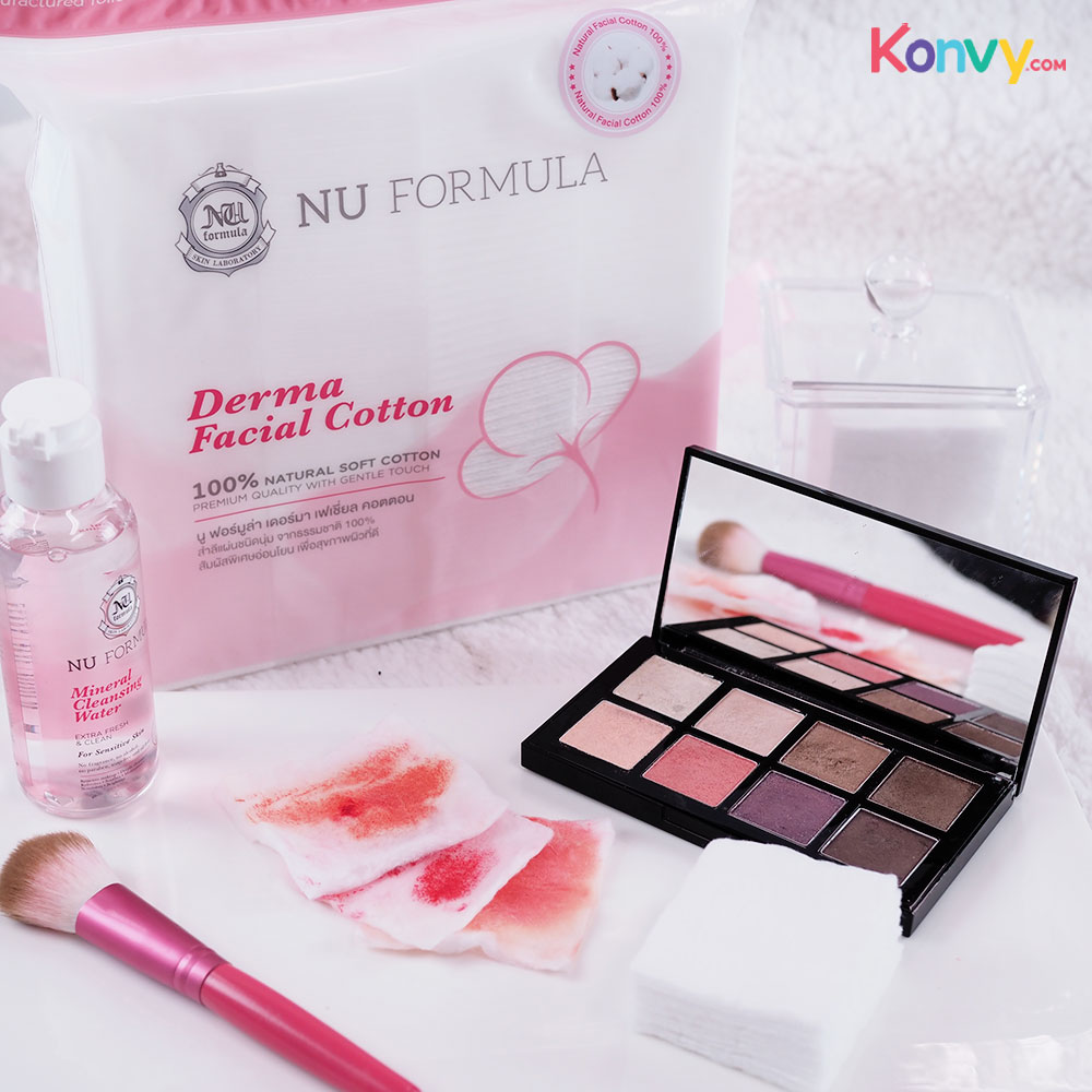 Nu Formula Cleansing Set 2 Items for Sensitive Skin (Cleansing Water 510ml + Derma Cotton 200pcs)_13