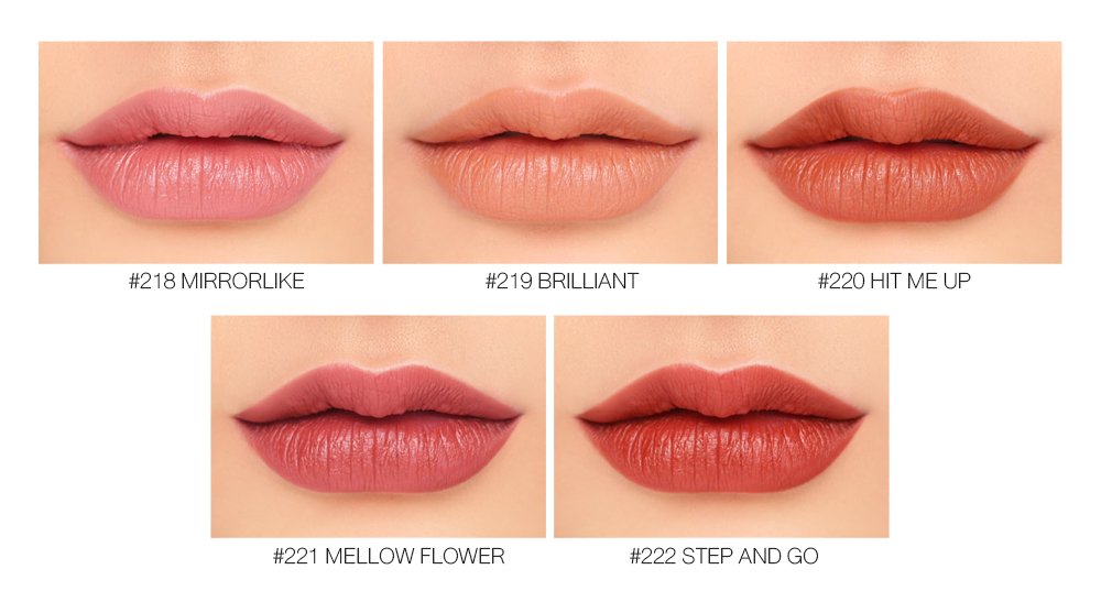 3CE Matte Lip Color #222 Step And Go_5