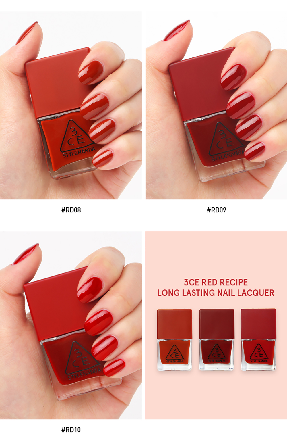 3CE Long Lasting Nail Lacquer #RD08_4