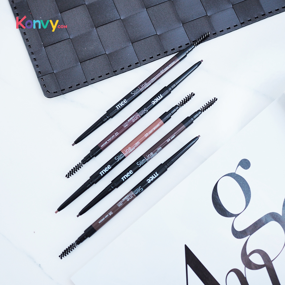 Mee Slim Line Auto Eyebrow Pencil 1.5mm. #01 Dark Brown_1