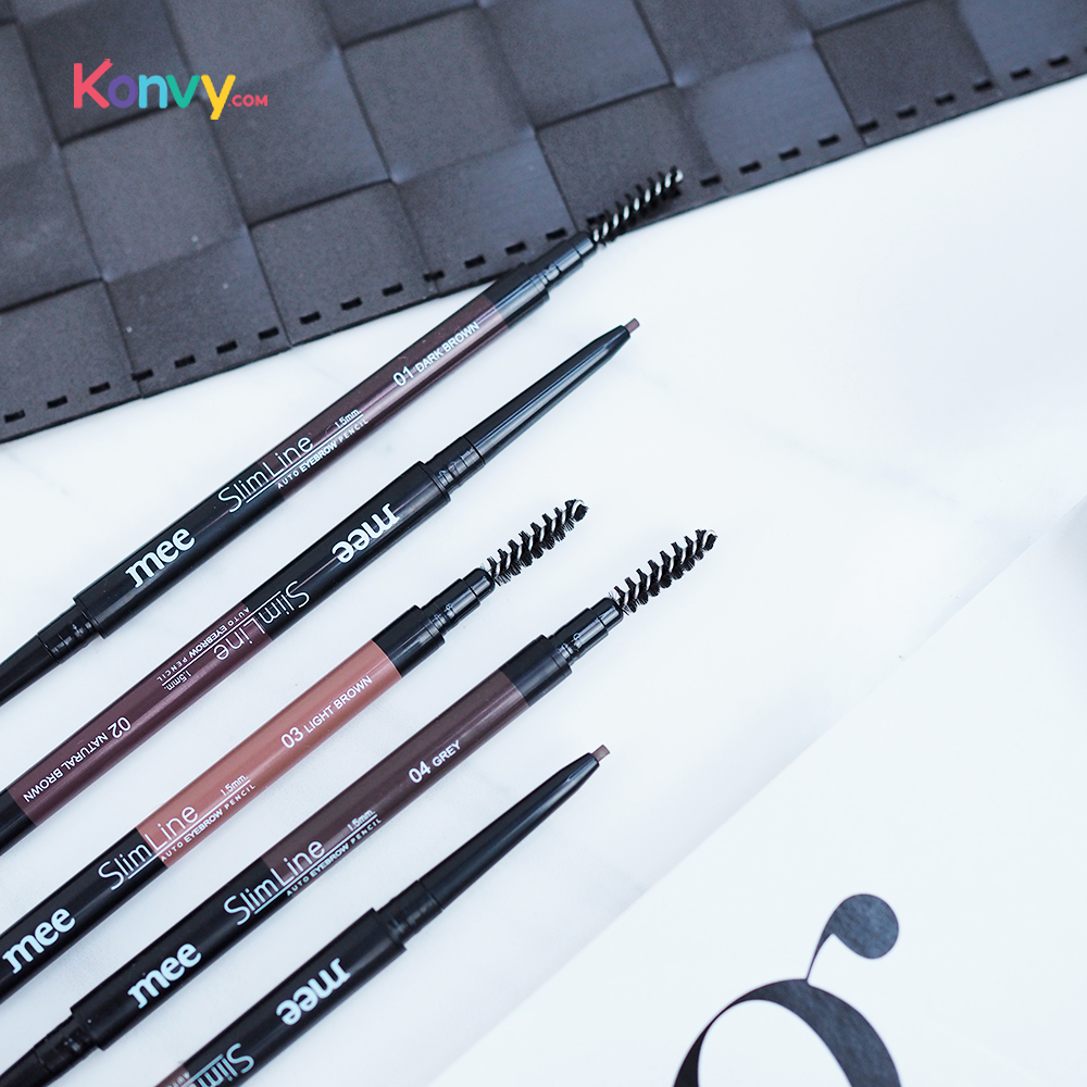 Mee Slim Line Auto Eyebrow Pencil 1.5mm. #01 Dark Brown_2