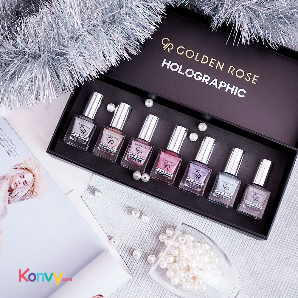 Golden Rose Holographic Nail Colour 10.5ml #07_1