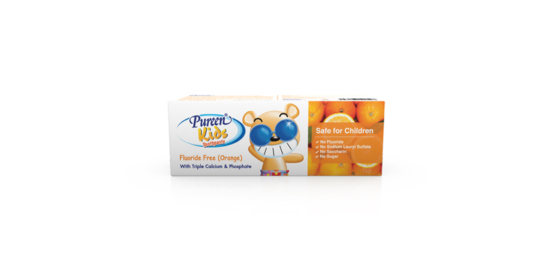 Pureen Toothpaste Kid Orange 40g (Fluoride Free)