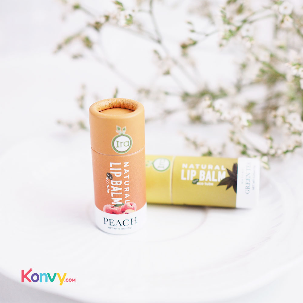 IRA eco tube Natural Lip Balm Peach 7g_1