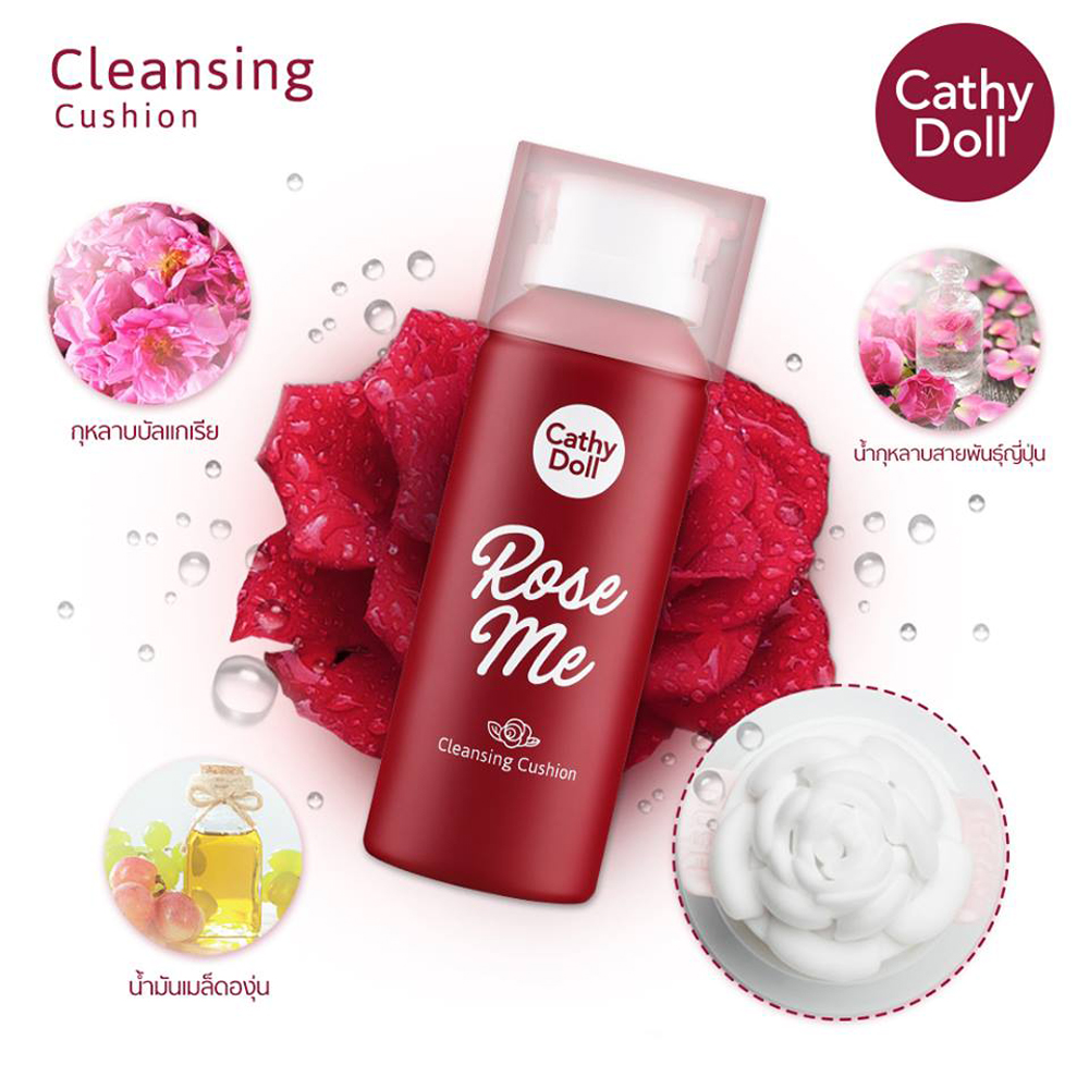 Cathy Doll Rose Me Cleansing Cushion 150ml_1