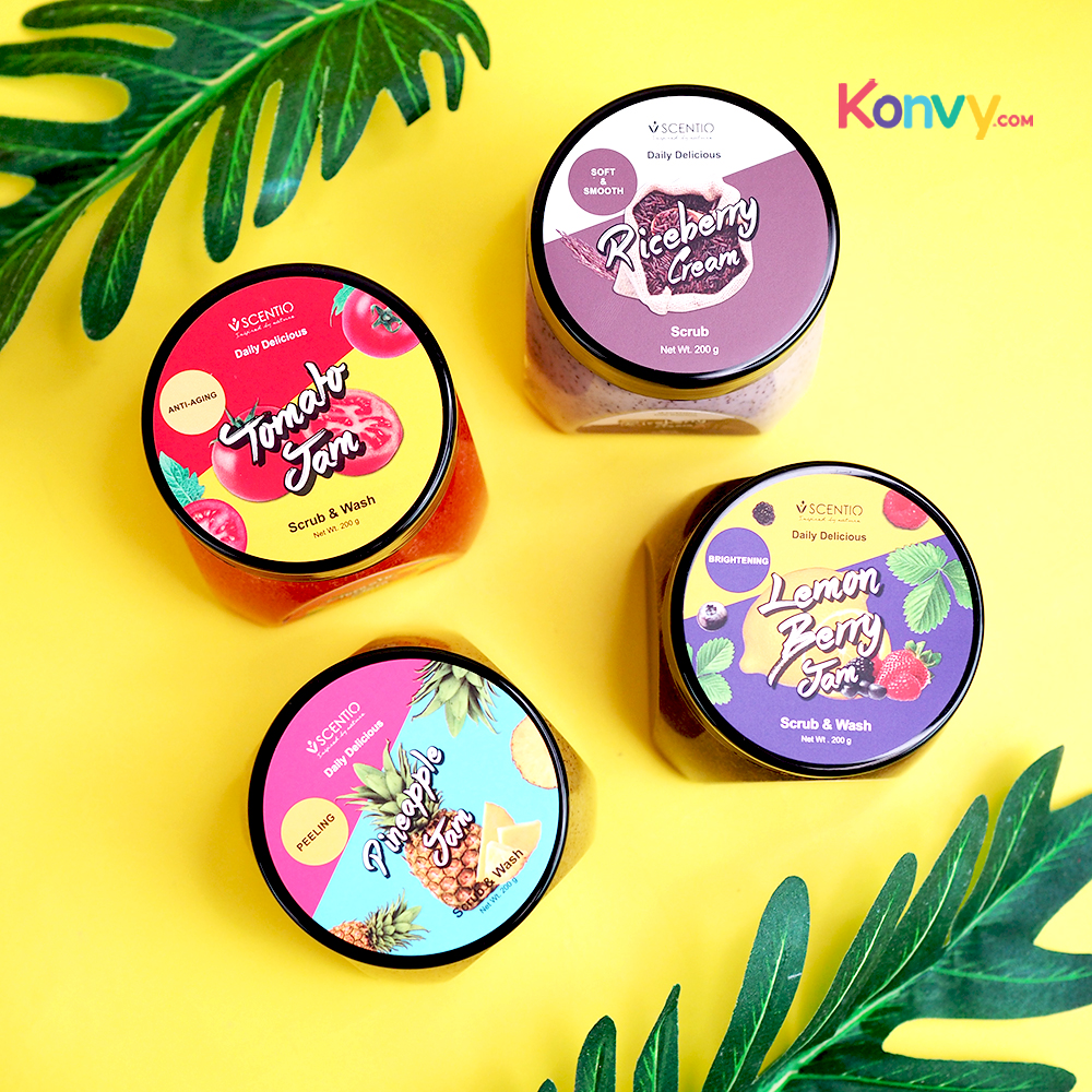 Beauty Buffet Scentio Daily Delicious Pineapple Jam Scrub & Wash 200g_1