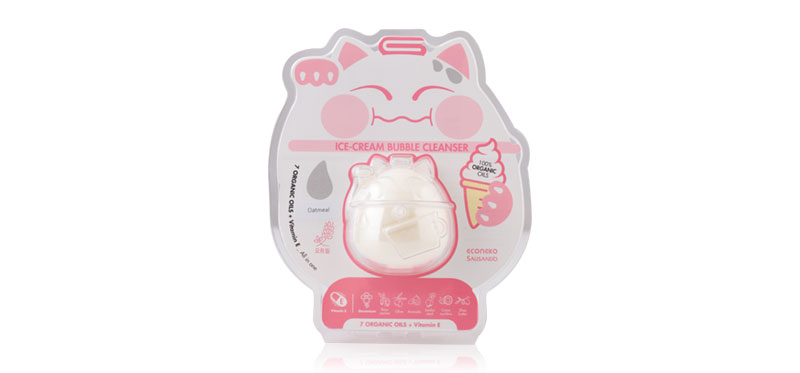 EcoNeko Ice-Cream Bubble Cleansing Pack Oatmeal Single Capsule