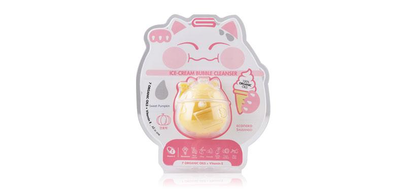 EcoNeko Ice-Cream Bubble Cleansing Pack Sweet Pupkin Single Capsule