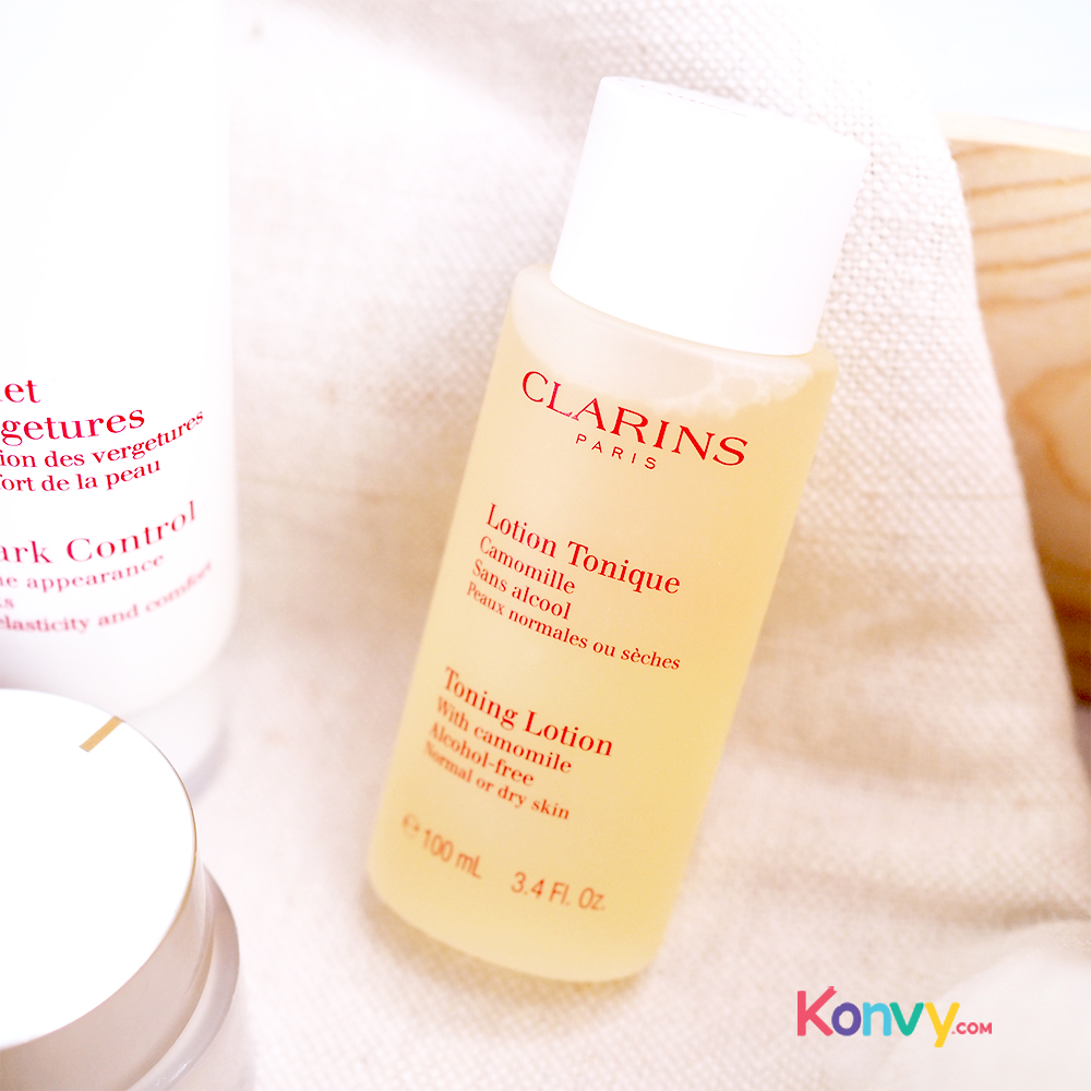 Clarins Toning Lotion With Camomile Alcohol-Free Normal Or Dry Skin 100ml (No Box)