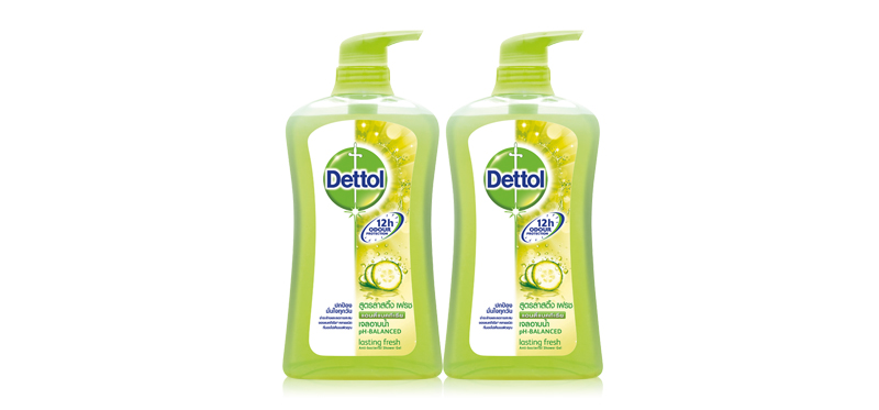 แพ็คคู่ Dettol Shower Gel Lasting Fresh (500ml x 2pcs)