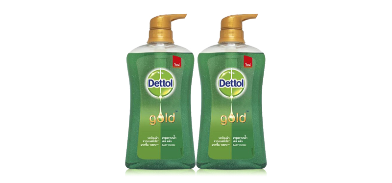[แพ็คคู่] Dettol Gold Shower Gel Pump - Daily Clean [500ml x 2pcs]