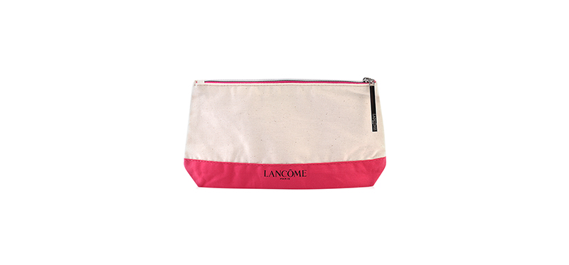 Lancome Pouch Live Each Moment To The Fullest #White & Pink