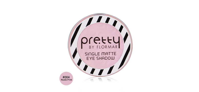 Pretty By Flormar Single Matte Eyeshadow 3.5g #004 Nude Pink