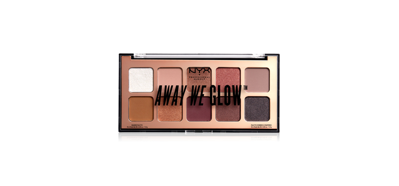 NYX Professional Makeup Away We Glow Shadow Palette (1x10g) #AWGSP01 Love Beam