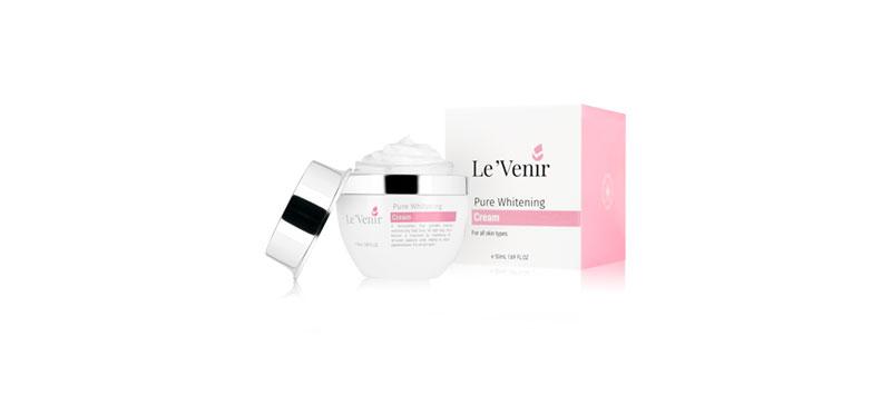 Le Venir Pure Whitening Cream 50ml ( สินค้าหมดอายุ : 2021.02 )