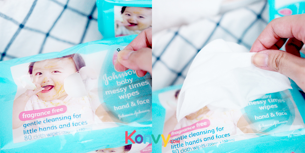 Johnsons Baby Messy Times Wipes 80pcs_2