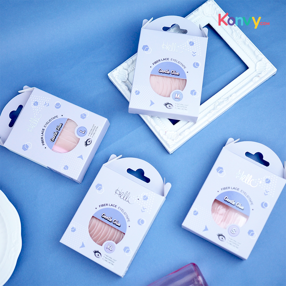HELLO Fiber Lace Eyelid Tape Gentle Glue #M (Normal Pack)_1