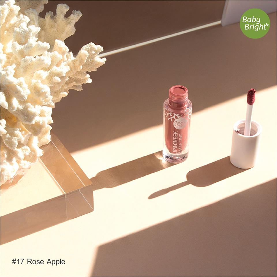 Baby Bright Lip & Cheek Matte Tint 2.4g #17 Rose Apple_2
