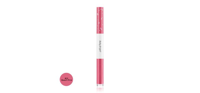 Baby Bright Plankton Matte Cushion Lip & Moist Tint (0.7+0.9g) #02 Beach Pink