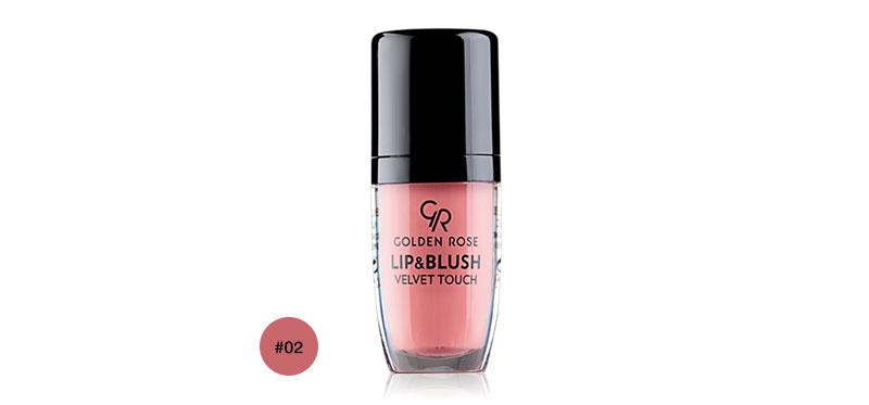 Golden Rose Lip & Blush Velvet Touch 4.5ml #02