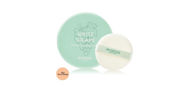 Skinfood White Grape Fresh Up Light Pact 12g #23 Sand Beige