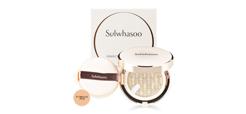 Sulwhasoo Perfecting Cushion EX SPF50+/PA+++ 30g (15gx2) #21 Natural (Pink)