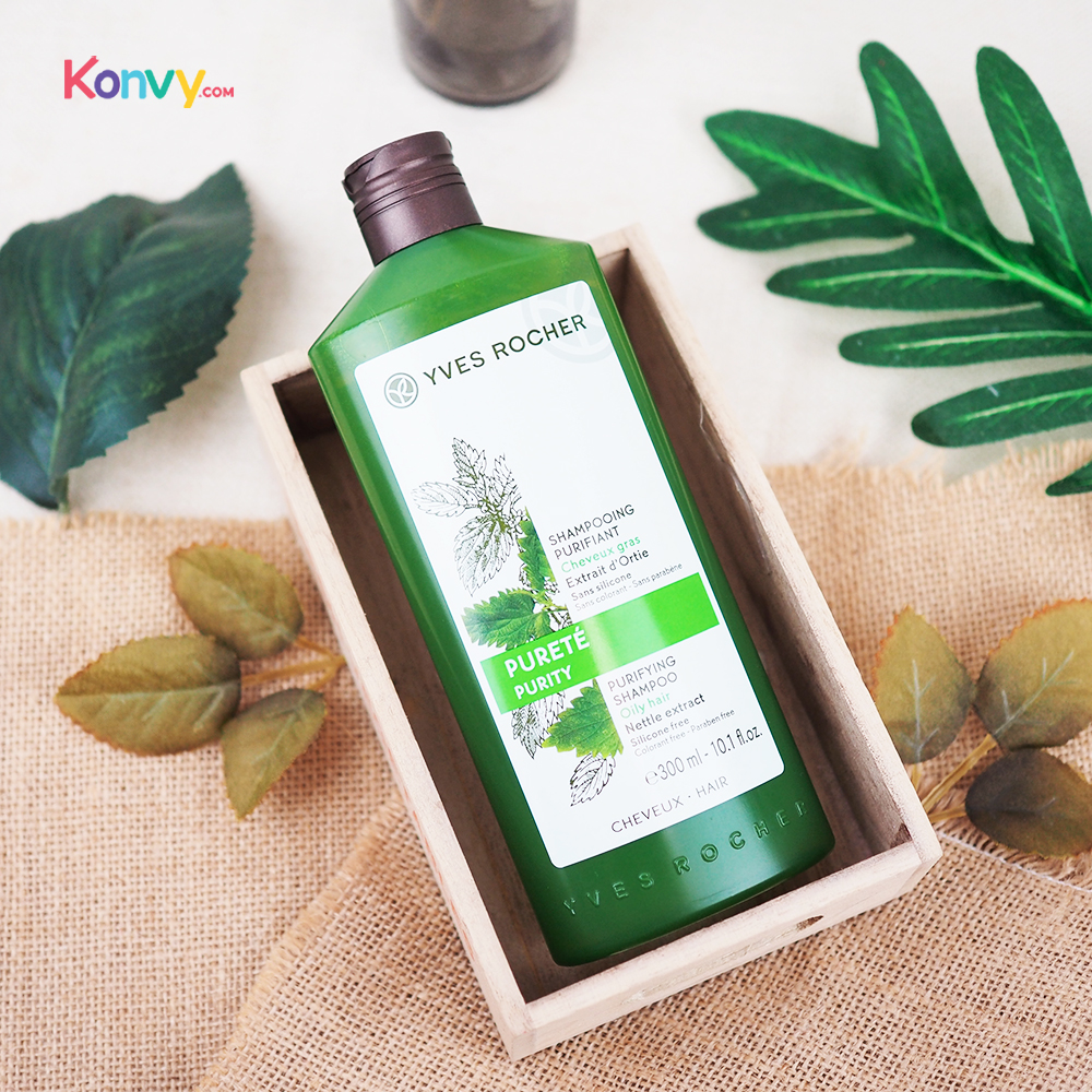 Yves Rocher Purity Purifying Shampoo for Oily Hair 300ml #Nettle