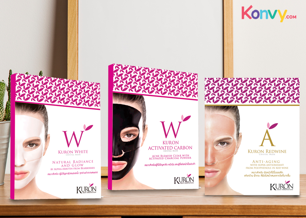 Kuron Crystal Mask Set 3 Items (White+ Red Wine + Activated Carbon)_1