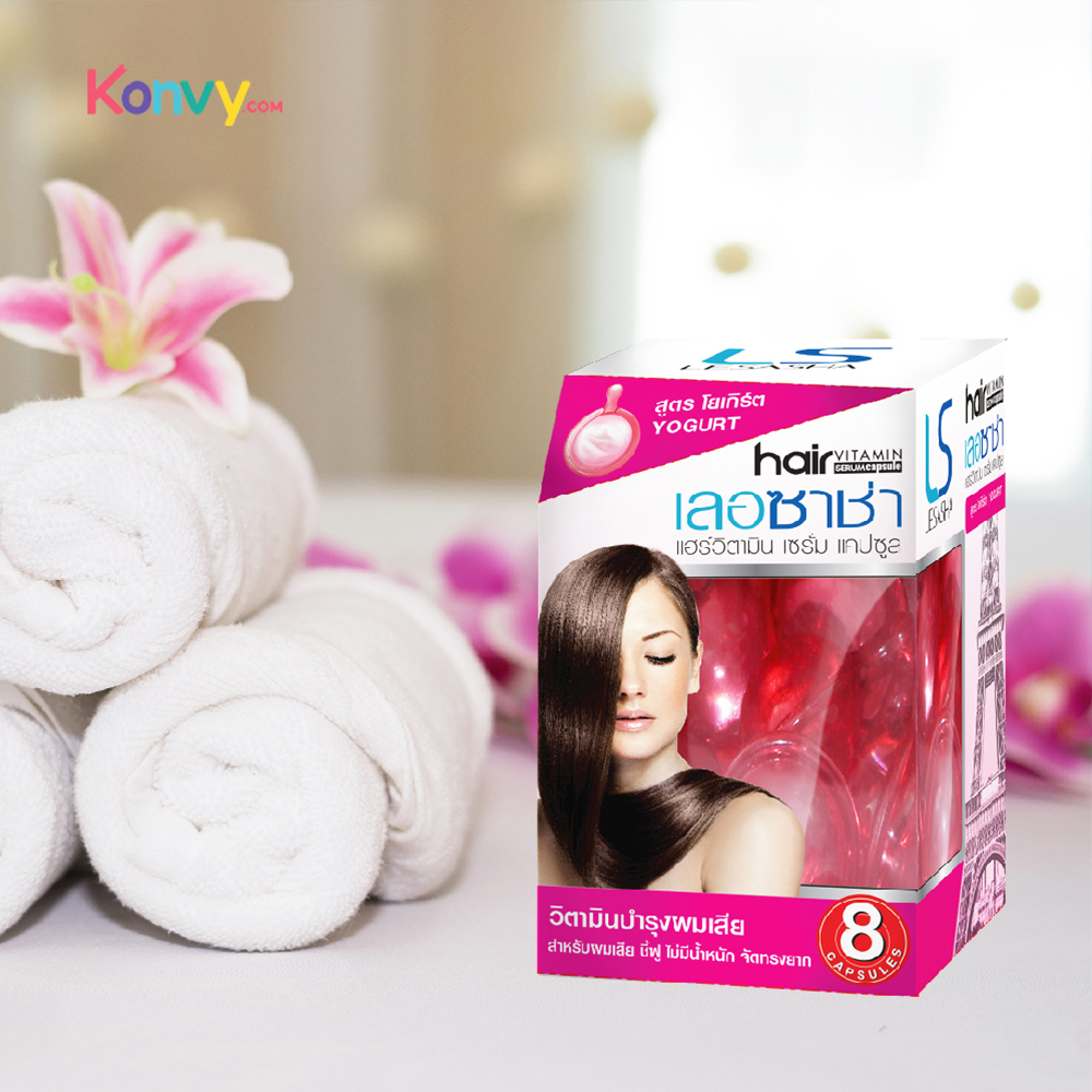 แพ็คสาม Lesasha Hair Vitamin Serum Capsule #Yogurt (15capsules x3)