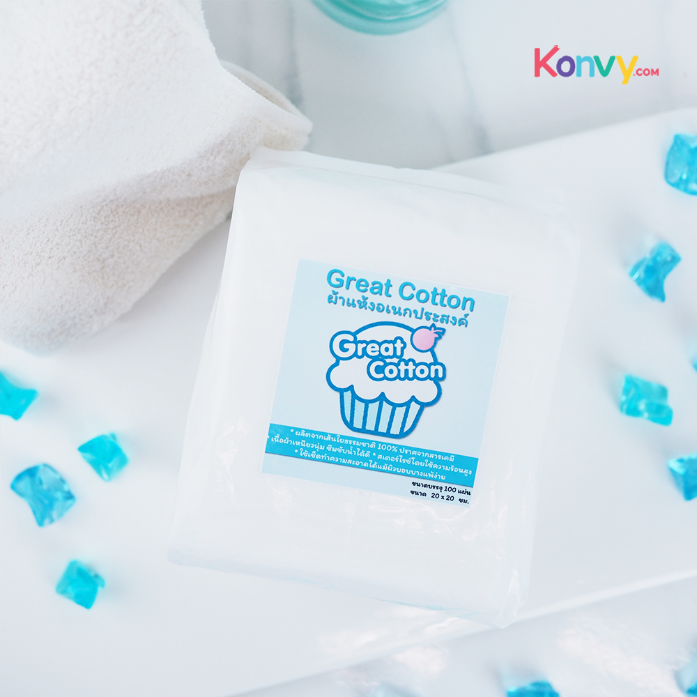 Great Cotton Dry Wipe 100pcs (1 Pack)_1