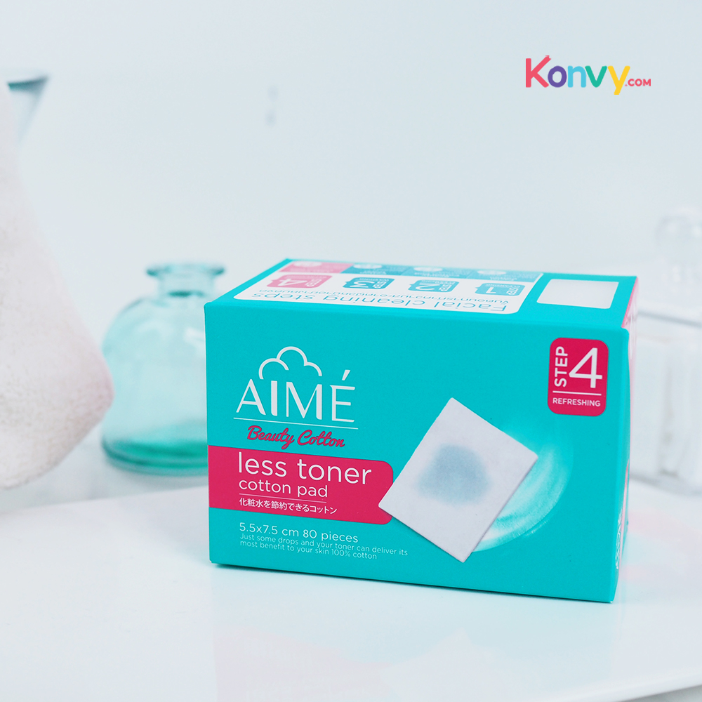 Aime Less Toner Cotton Pad 80pcs_1
