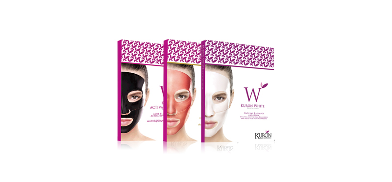 Kuron Crystal Mask Set 3 Items (White+ Red Wine + Activated Carbon)