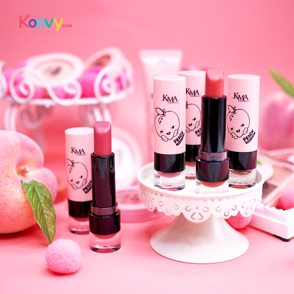 KMA Peach Mellow Soft Matte Lipstick 3.7g #P3 Berry Peach_2