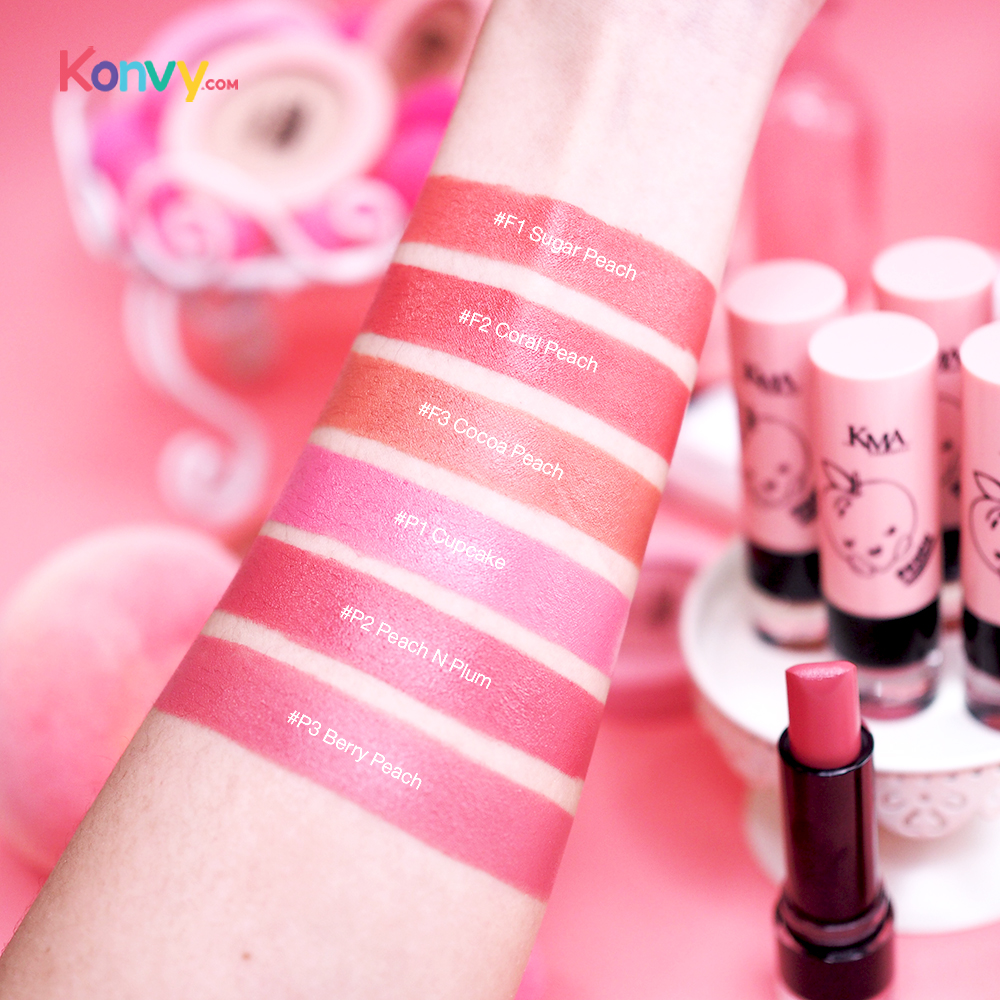 KMA Peach Mellow Soft Matte Lipstick 3.7g #P3 Berry Peach_3