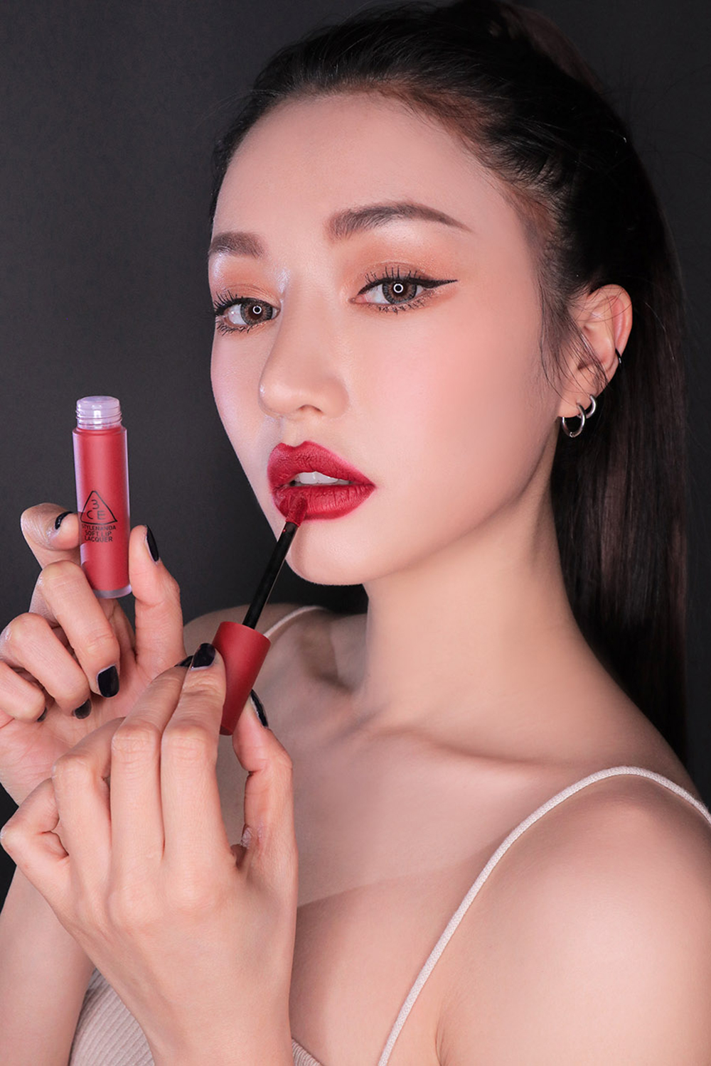 3CE Soft Lip Lacquer #Perk Up_3