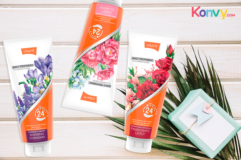 Lolane Daily Treatment Set 3 Items (Passionate Lively 300ml + Sweet Glowing 300ml + Warming Charisma 300ml)