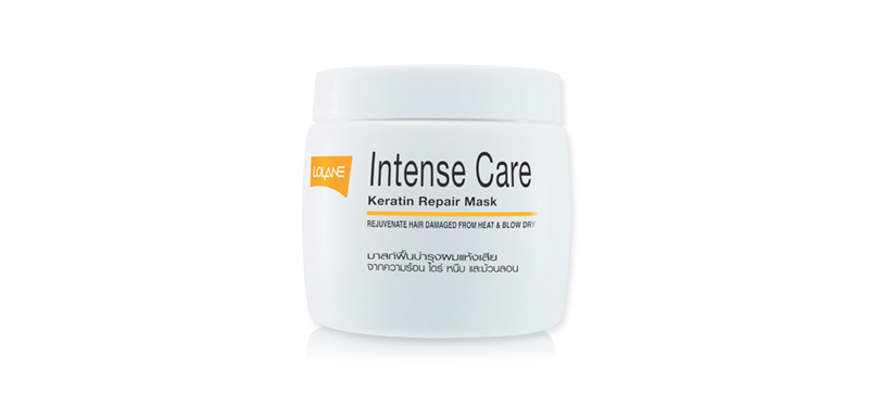 Lolane Intense Care Keratin Repair Mask for Hair Damaged from Heat & Blow Dry 200g