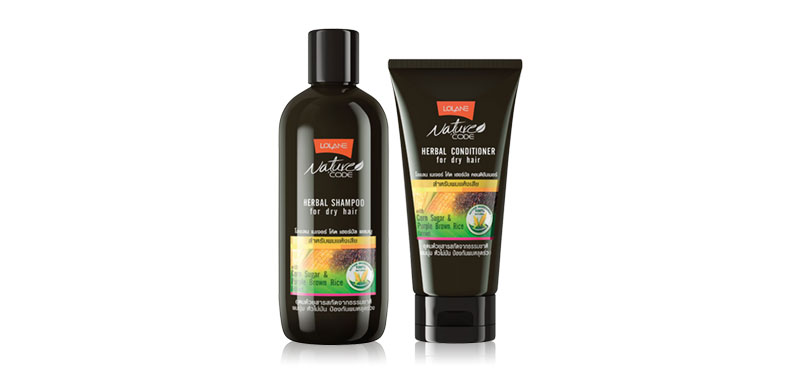 Lolane Nature Code Herbal Dry Hair Set 2 Items (Shampoo 280ml + Conditioner 150ml) ( Expiration Date : 2020.05 )
